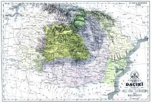 Harta Daciei moderne