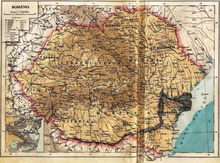 Imagini pentru harta romaniei mari